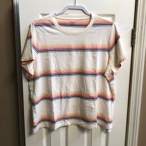 Madewell Short Sleeve Rainbow Stripe Tee 2X